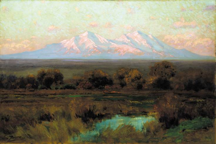 Sunrise in Autumn On Spanish Peaks� by Charles Partridge Adams is included in �Art Survey IX� at Kirkland Museum of Fine and Decorative Art. Courtesy photo