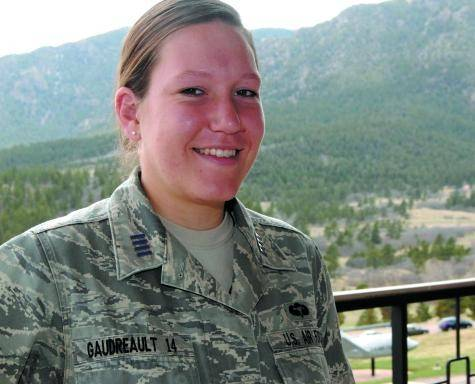 Cadet 1st Class Liana Gaudreault, a Black Forest native, said she hopes to study anthropology at the University of Strasbourg New Sorbonne University in Paris. She will graduate from the Academy later this month.