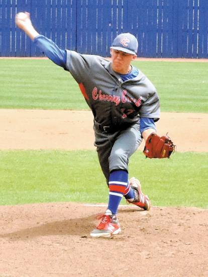 Cherry Creek starter Justin Jeronimus pitched a six-inning, one-hit shutout in a 10-0 win over Eaglecrest May 3.