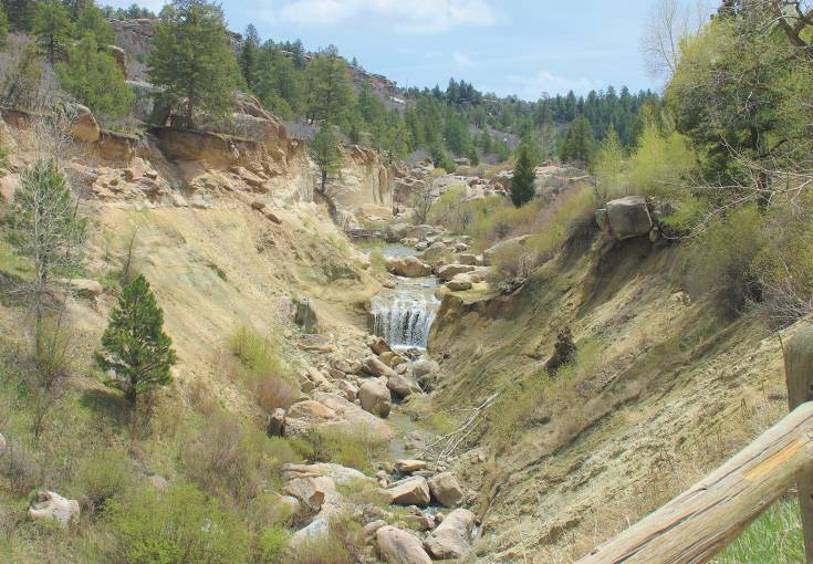 The waterfall in Castlewood Canyon State Park is a popular spot for hikers and amateur photographers.