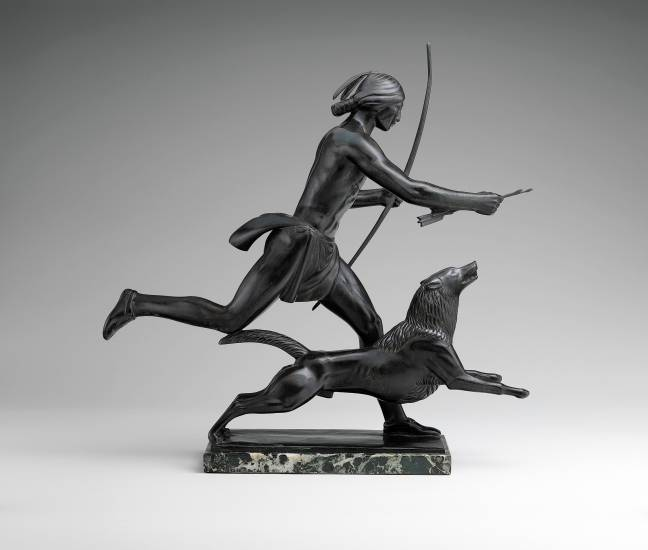 "This running Indian, 1926 by Paul Manship is almost Art Deco in style-the beginning of Modern Art, in the ""American West in Bronze"" exhibit at the Denver Art Museum."