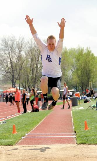 Highlands Ranch's Ben Morgan captures the state championship in the Class 5A long jump with a leap of 22 feet, 8.5 inches on May 15 in Lakewood.