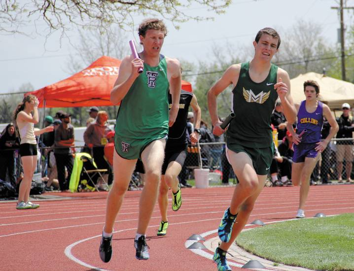 Mountain Vista edged out ThunderRidge in the 4x800 finals May 15 in Lakewood as the Golden Eagles placed fourth and the Grizzlies fifth.
