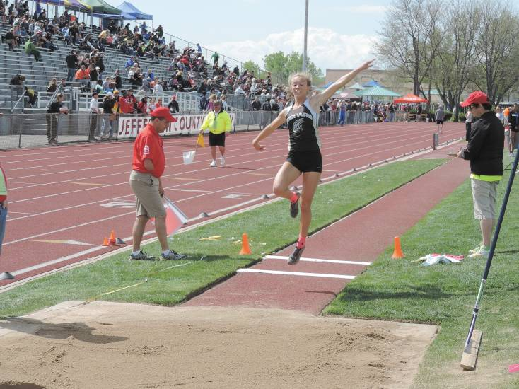 Rock Canyon's Jayla Balman finished sixth in the Class 5A long jump with a leap of 17 feet, 2.75 inches on May 15.
