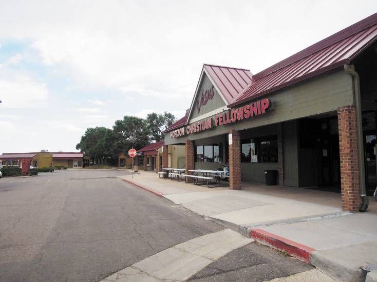 Columbine Square shopping center at Federal and Belleview is part of a study area for revitalization. A developer had recently planned to build apartments there, but those plans appear to be on hold. File photo