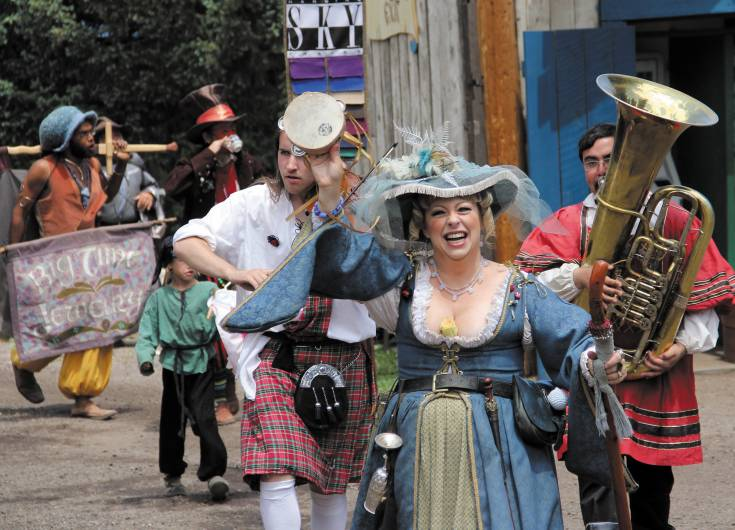 Impromptu parades are never an uncommon sight at the Colorado Renaissance Festival, which kicks off June 14 in Larkspur and runs from 10 a.m. until 6:30 p.m. every Saturday and Sunday through Aug. 3.