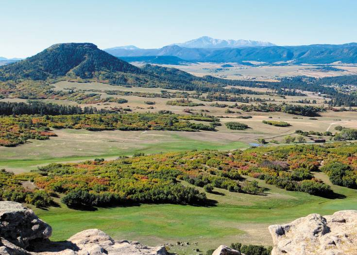 A panoramic view from Dawson Butte Open Space Park in Douglas County.