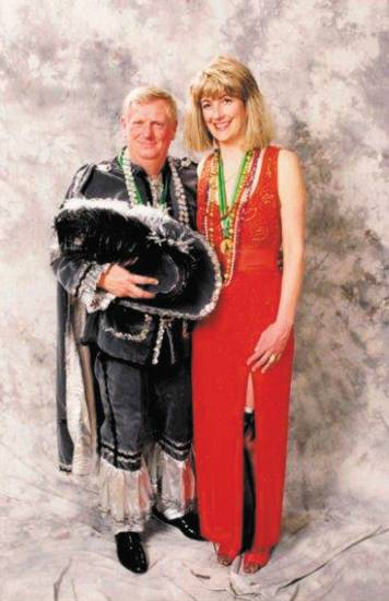 Tom and Ellen Carrick were named King and Queen at the Mardi Gras celebration in Woodland Park. The Carricks were part of the Cavaliers. The photo was taken in 2002.
