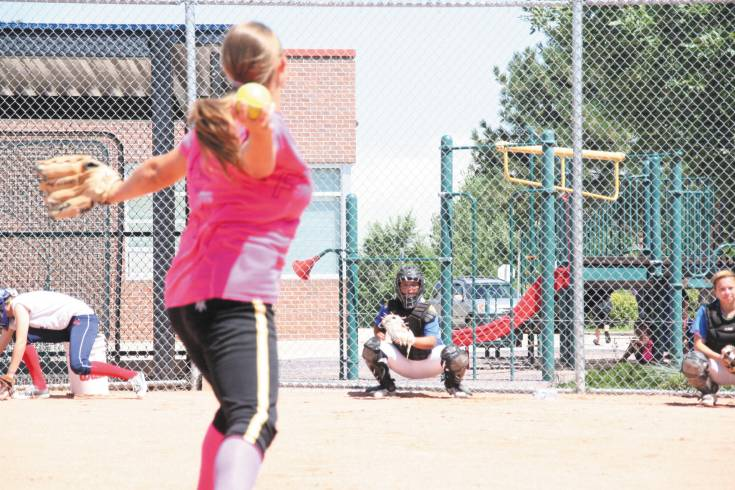 Wheat Ridge doesn�t quite know who its next great ace will be but junior Ann Marie Torres is one of the top contenders for the gig. Torres is pictured here throwing fireballs to sophomore catcher Gabby Loya.