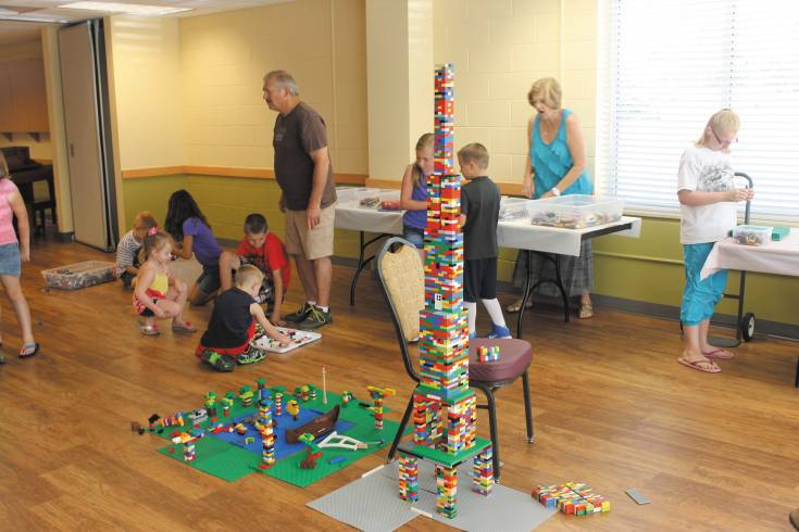 More than 40 children visited the Thornton Senior Center Aug. 6 on grandkids� day and participated in a Lego build, face painting, ate lunch and were serenaded by the Colorado Children�s Chorale. The Senior Center will celebrate its 30th anniversary with multiple events Aug. 20-22.