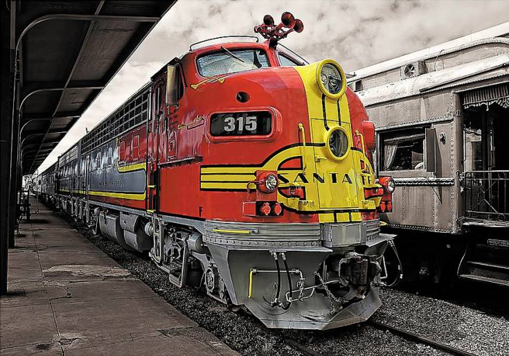 """Classic Lines,"" a vintage Santa Fe engine by Ken Smith, was shot in Galveston, Texas."