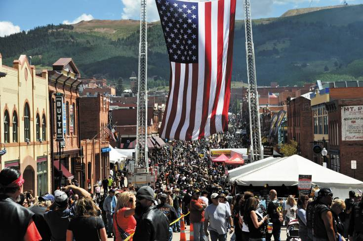 Residents of Cripple Creek turned out by the hundreds to host the POW/MIA Recognition ride, a Salute to America�s Veterans Aug. 16. Courtesy photo