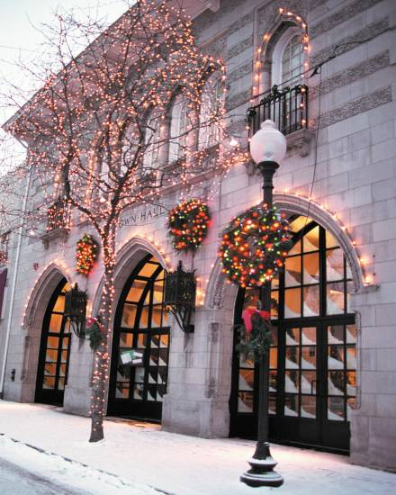 Littleton's historic Town Hall Arts Center (In its holiday finery here) will serve as the headquarters for the Sept. 13 Scavenger Hunt, presented by Historic Littleton Inc.