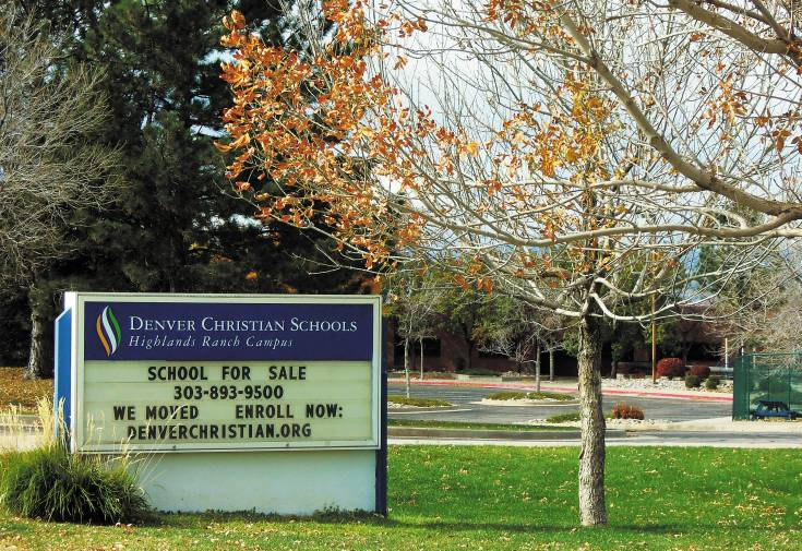 Supporters of the proposed charter John Adams High School have made an offer to purchase the vacant Denver Christian Schools campus on Dad Clark Drive in Highlands Ranch. Photo by Jane Reuter