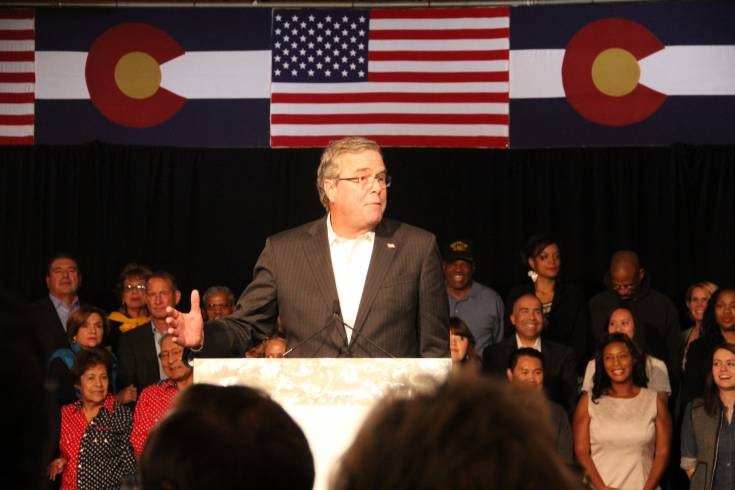 Former Florida Republican Gov. Jeb Bush, and possible 2016 presidential candidate, stumped for Colorado's big-name Republicans Oct. 29 at the Douglas County Fairgrounds in Castle Rock.