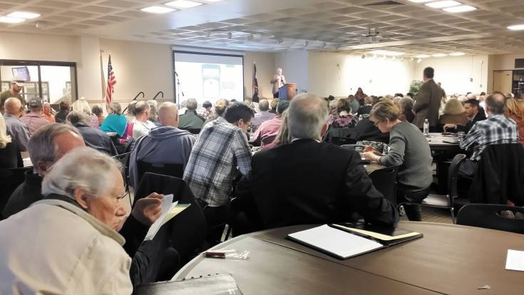 The Arapahoe Community College cafeteria was overflowing Oct. 28 with people who wanted to understand more about the city's urban-renewal plans.