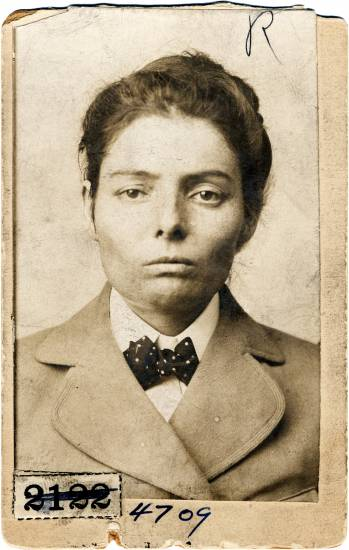 Laura Bullion's Pinkerton mug shot.
