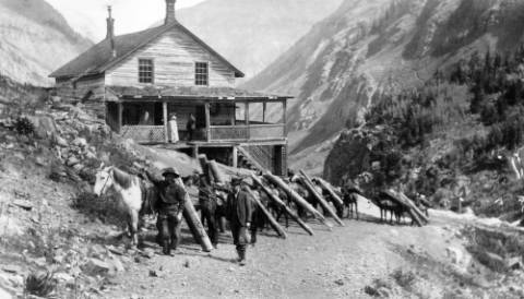 "Boarding house ""White House"" at Highland Mary - also called ""Howling Mary""