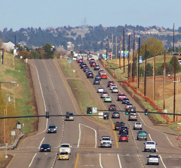 With an increased population came traffic congestion, which local leaders are still trying to manage. Pictured is Lincoln Avenue looking toward Parker.