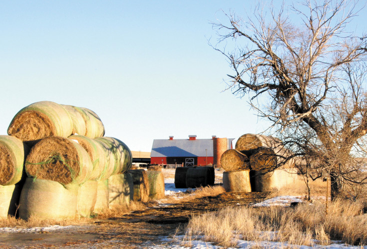 There is a working barn on the Carnahan Ranch.
