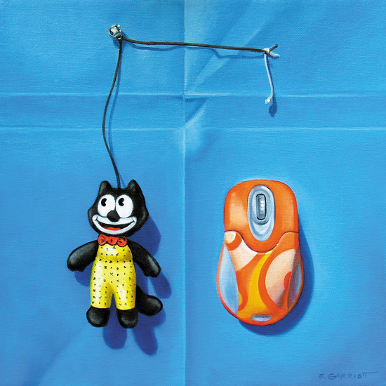 "Cat 'n' Mouse"" by R. Garriott is included in the ""Arts of Memories"" exhibit at Town Hall Arts Center. Courtesy photo"