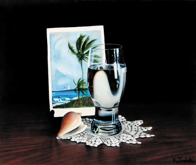 """Key Largo"" by Kay Juricek is in the ""Art of Memories"" exhibit at Town Hall Arts Center. Courtesy photo"