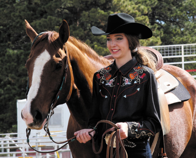 Taylor Braun, a Cherry Creek High School freshman, was named the 2016 Elizabeth Stampede Rodeo attendant.