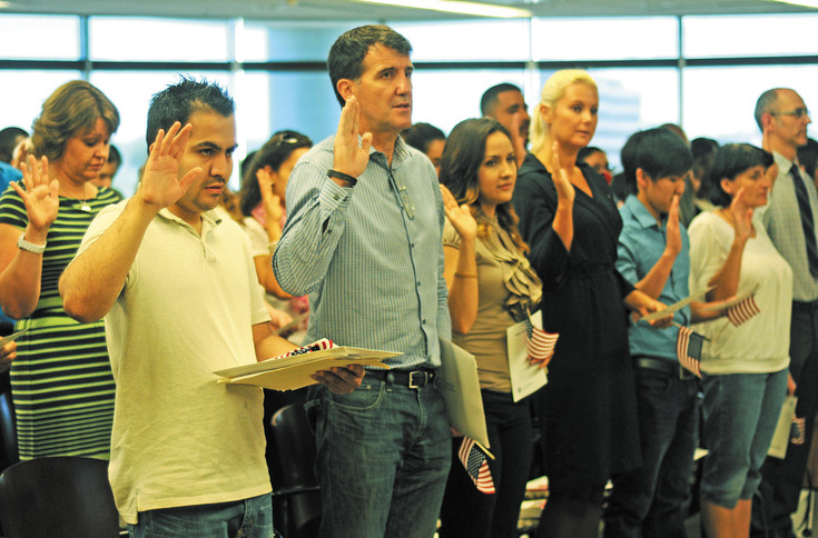 About 50 immigrants were naturalized as U.S. Citizens on June 8 at Centennial's U.S. Citizen and Immigration Services office.
