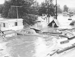 Platte flood water in 1965.