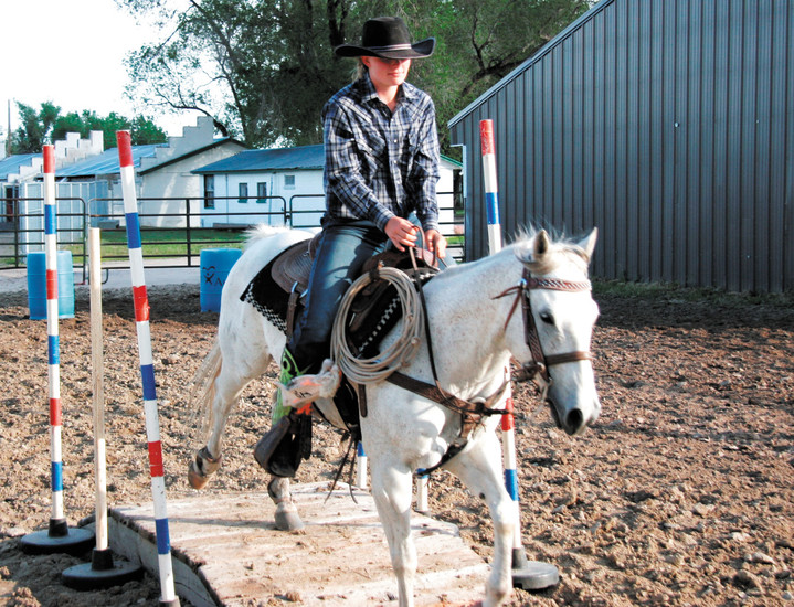 Clara Lindauer navigates the gate course at the Elbert County Fairgrounds Tuesday June 16.