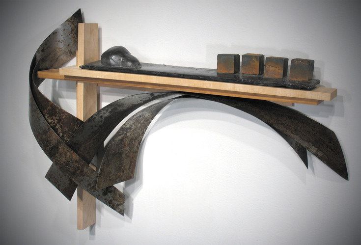 Iron artists Craig Robb works with iron and wood materials to create striking sculptures. Courtesy photo