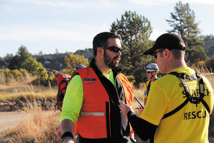 Roman Bukary serves as Incident Commander for the Oct. 17 training scenario.