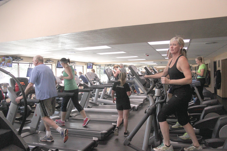 People do cardio workouts at the Goodson Recreation Center in Centennial.
