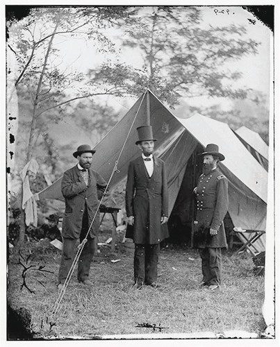 "This historic photograph of President Lincoln visiting the troops will be among the ""Smithsonian's History of America in 101 Historic Objects"" discussed in Dr. Richard Kurin's lecture at History Colorado at 1 and 7 p.m. on Jan. 11 at History Colorado Center. Courtesy photo"