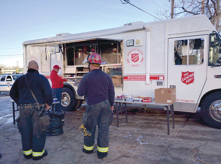 A local Salvation Army food truck popped by the scene of the Wads Fire Saturday, Jan. 2 to help feed the first responders on duty.