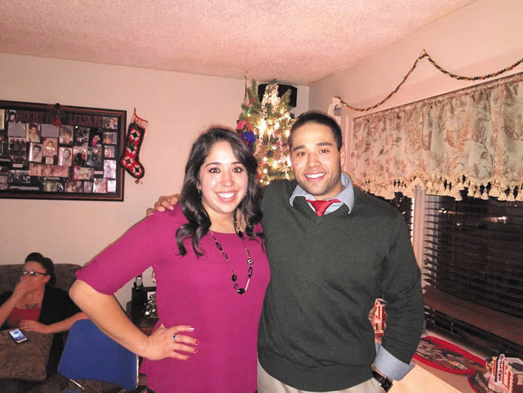 "Christina Lujan, 24, is shown with her brother Julian, who died after falling off a cliff in June. ""Facebook was a tool to get the message across to everyone,"" she said."
