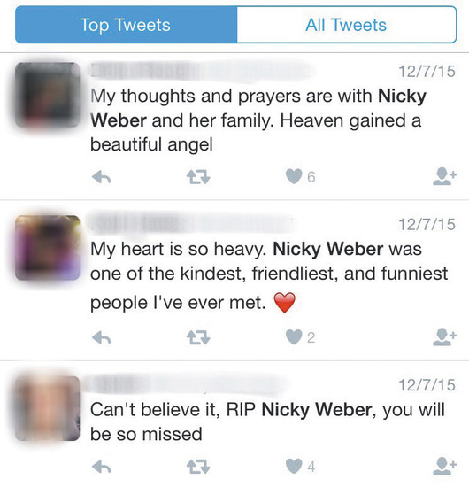 Following the death of Nicole Weber, a Mountain Vista Graduate and student at University of Colorado Boulder, social media filled with heartfelt messages about the young woman.