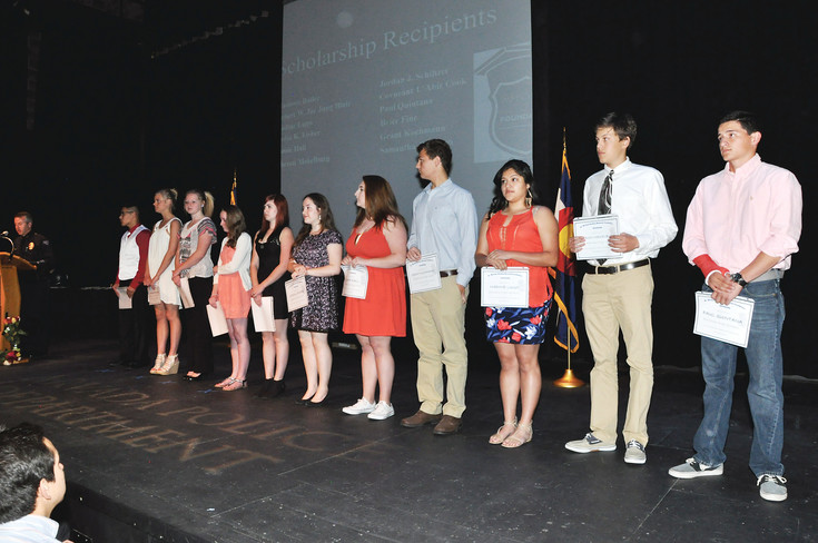 In 2015, the Arvada police department awarded 11 scholarships totaling $18,000 through the foundation. Courtesy Photo