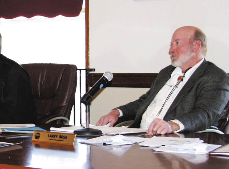 Larry Ross, shown at a board of county commissioners meeting last year, will not seek re-election as the District 3 commissioner. File photo