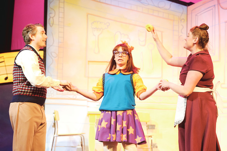 "From left: Brett Ambler, Melissa Morris and Maggie Tisdale in the Arvada Center's production of ""Junie B. Jones, the Musical."" Around 1,000 children a day come to the center to see a stage production."