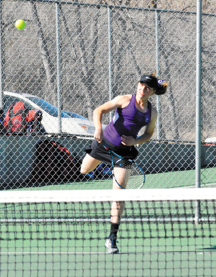 Douglas County senior Clara Larson, who last season was the first player in recent school history to make it to the quarterfinals of the state tournament, says work in practice on second serves helps to build confidence.