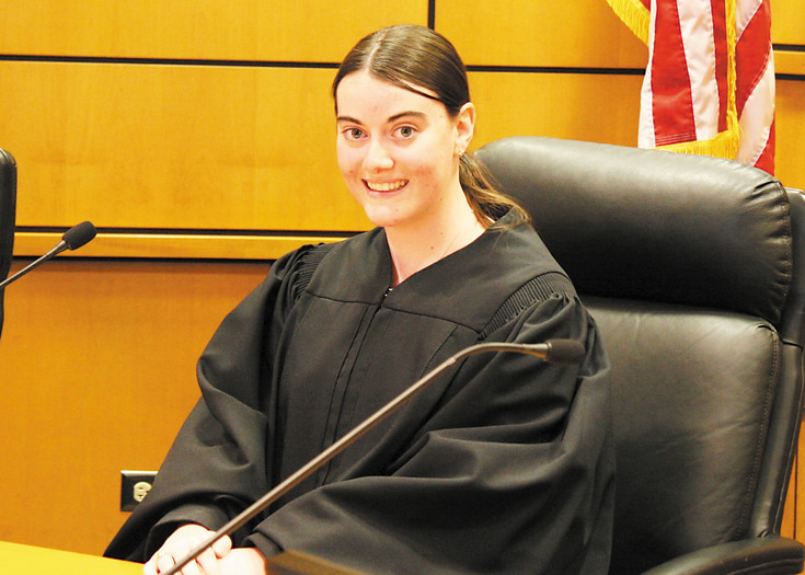 Teen Judge Kayla Whitehouse (18) of Chaparral High School presided over Parker Teen Court on April 20.