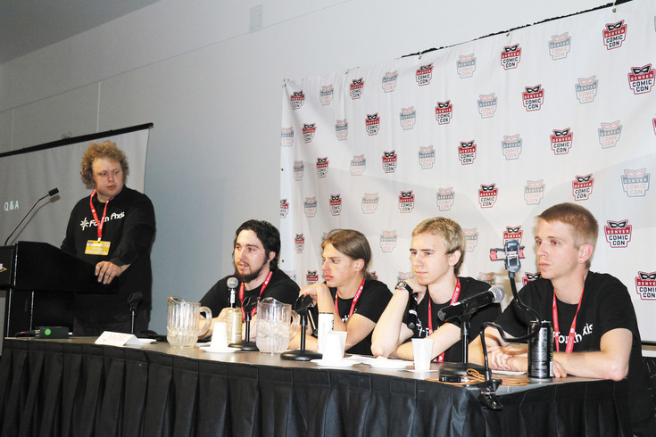 "Fourth Axis, a video game design company comprised of Rocky Mountain College of Art + Design students, talked about their ""Children of Uum"" video game at a panel at Denver Comic Con on June 17."