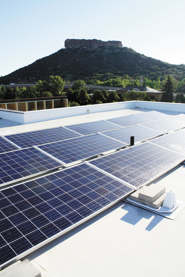 The Move brings downtown Castle Rock its first solar panel system.