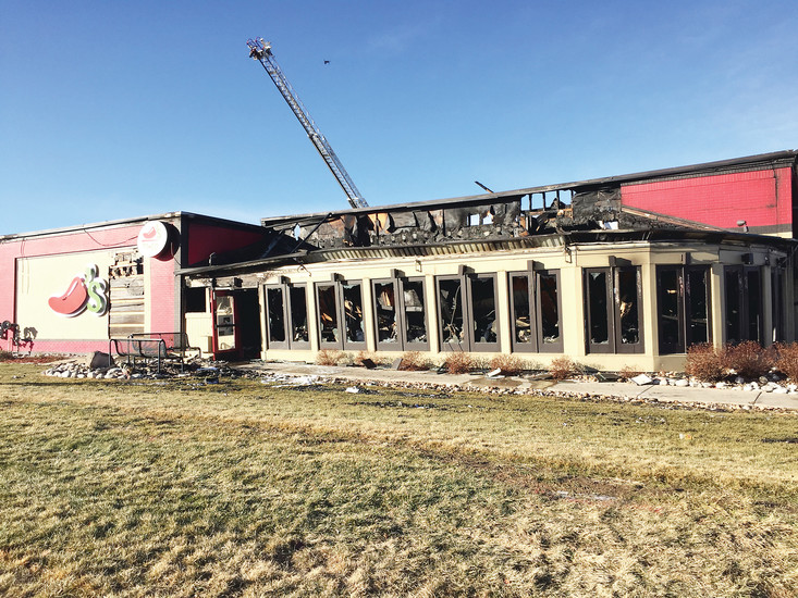 The structure of Chili's on University Boulevard still stands, but it was severely damaged following a Dec. 27 fire.