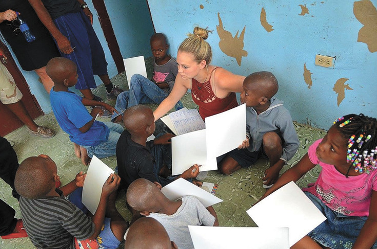 Lauren Meighan visits Haiti once a year to work with children ages 3 to 18 years old. Meighan, an eighth-grade literature teacher at SkyView Academy, is board president of the Vertile Foundation, a home for orphaned and abandoned youths in Carrefour, Haiti. This year, her SkyView students will raise money for her Haiti children.
