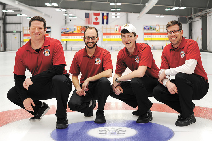From left to right are Josh Chetwynd, Evan Jaffe, Aaron Johnston and Darryl Sobering of the Denver Curling Club. They will be the first team in 20 years to represent Colorado at the USA Men's National Curling Championships Feb. 11-18 in Everett, Washington.