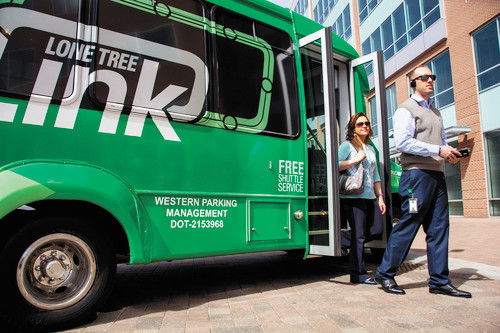 The Lone Tree Link's service has shown 30 percent growth in ridership throughout its second year in operation, with Charles Schwab and Sky Ridge Medical Center among the most popular stops.