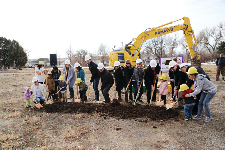 Community partners and teen moms came together to break groun on Hope House's new resource center.