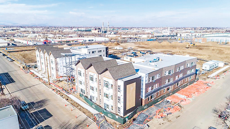 Leasing is underway for units in the Foundry Apartments project as construction nears completion. There will be 70 units in the affordable housing project, with rents based on income. Courtesy photo